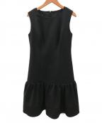 Rene basic(ルネベーシック)の古着「ノースリーブドレスワンピース」 ブラック