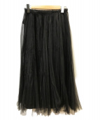 AP STUDIO(エーピーストゥディオ)の古着「チュールスカート」|ブラック