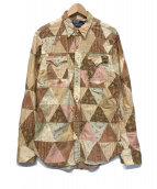 ()の古着「ウエスタンパッチワークシャツ」|ブラウン