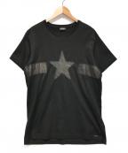 DIESEL(ディーゼル)の古着「STAR PATCH TEE」|ブラック