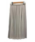 comme ca(コムサ)の古着「21SSリバーシブルソフトチュールプリーツスカート」|ライトグレー