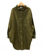 Yarmo(ヤーモ)の古着「オーバーサイズシャツ」 オリーブ
