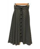 mikomori(ミコモリ)の古着「ドット柄フレアスカート」 ブラック