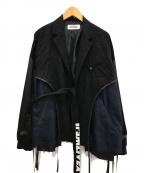 DISCOVERED(ディスカバード)の古着「Wrinkle proof jacket」|ブラック