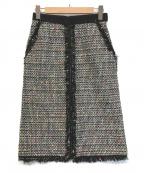 Lois CRAYON(ロイスクレヨン)の古着「ツイードタイトスカート」|グレー