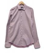 ()の古着「ドット柄シャツ」 レッド