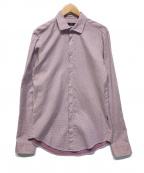 HUGO BOSS(ヒューゴ ボス)の古着「ドット柄シャツ」|レッド