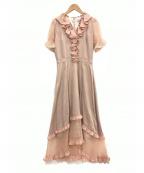 EmiriaWiz(エミリアウィズ)の古着「オーガンジーコンビフリルワンピース」 ピンク