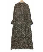 ()の古着「コットンボイルピンタックドレス」|ブラック