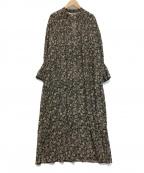 ne quittez pas(ヌキテパ)の古着「コットンボイルピンタックドレス」 ブラック