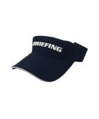 BRIEFING(ブリーフィング)の古着「ベーシックロゴサンバイザー」|ネイビー