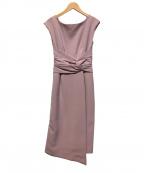 LAGUNA MOON(ラグナムーン)の古着「ウエストラップタイトドレスワンピース」|ピンク