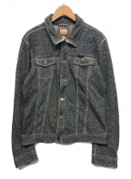 DIESEL(ディーゼル)の古着「ニットジャケット」|グレー