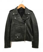 allureville(アルアバイル)の古着「レザーライダースジャケット」|ブラック