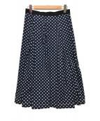 COMME des GARCONS tricot(コムデギャルソントリコ)の古着「コットンブロード水玉プリントスカート」 ネイビー