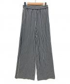LAppartement(アパルトモン)の古着「STRIPE WIDEパンツ」|ホワイト×ブルー