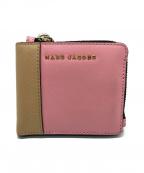 MARC JACOBS()の古着「配色2つ折り財布」|ピンク