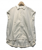 ASTRAET(アストラット)の古着「バックプリーツシャツ」|ホワイト