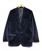 VALENTINO(ヴァレンティノ)の古着「ベルベットテーラードジャケット」 ネイビー