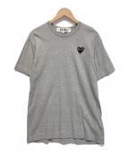 PLAY COMME des GARCONS(プレイ コムデギャルソン)の古着「ハートワッペンTシャツ」|グレー