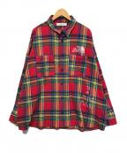 GALLIS ADDICTION()の古着「チェックネルシャツ」|レッド