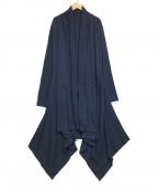 GROUND Y(グラウンドワイ)の古着「サイドフラッタードレス」 ネイビー