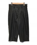 LIMI feu(リミフゥ)の古着「クロップドサルエルパンツ」 ブラック