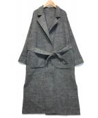 ()の古着「ヘリンボーンリバーシブルコート」|グレー