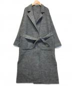 Rouge vif(ルージュヴィフ)の古着「ヘリンボーンリバーシブルコート」|グレー