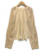 LEMAIRE(ルメール)の古着「ウールシルクラグランブラウス」 ピンク