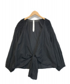 ()の古着「ラップブラウス」|ブラック