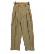 STUNNING LURE(スタニングルアー)の古着「タックパンツ」|ベージュ