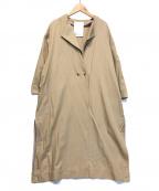 ELENDEEK(エレンディーク)の古着「ノーカラーコート」|ベージュ