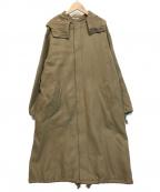 AURALEE(オーラリー)の古着「LIGHT MELTON LONG HOODED COAT」|カーキ