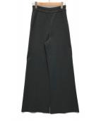 ()の古着「ミラノリブワイドパンツ」|ブラック