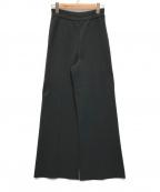 ASTRAET(アストラット)の古着「ミラノリブワイドパンツ」|ブラック