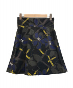 ()の古着「花柄スカート」|ネイビー