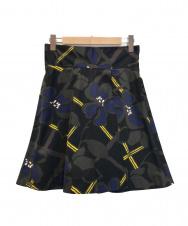 MARNI (マルニ) 花柄スカート ネイビー サイズ:42