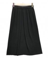 AMACA (アマカ) スポンディッシュコットンニットスカート ブラック サイズ:38