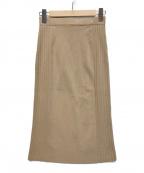 Pinky & Dianne(ピンキーアンドダイアン)の古着「サイドリブニットスカート」 キャメル