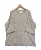 ()の古着「ドルマンサークル刺繍カットソー」|グレー