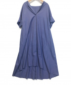 allureville(アルアバイル)の古着「ハンソデスキッパーシャツワンピース」|ブルー