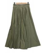 ()の古着「スリット入りロングスカート」|グリーン