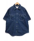 ()の古着「オーバーサイズ半袖デニムシャツ」|インディゴ