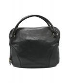 ()の古着「ガンチーニレザーハンドバッグ」|ブラック