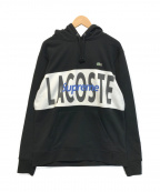 Supreme×LACOSTE()の古着「Logo Panel Hooded Sweatshirt」|ブラック