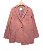 Ameri VINTAGE()の古着「WAIST BELT TAILORED JACKET」|ピンク