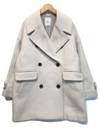 ebure(エブール)の古着「スーパー100sビーバーメルトンPコート」|アイボリー