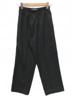 CellarDoor(セラードアー)の古着「センタープレスイージーパンツ」|ブラック