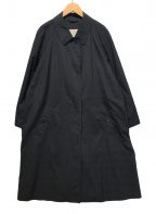 Aquascutum(アクアスキュータム)の古着「ステンカラーコート」|ブラック